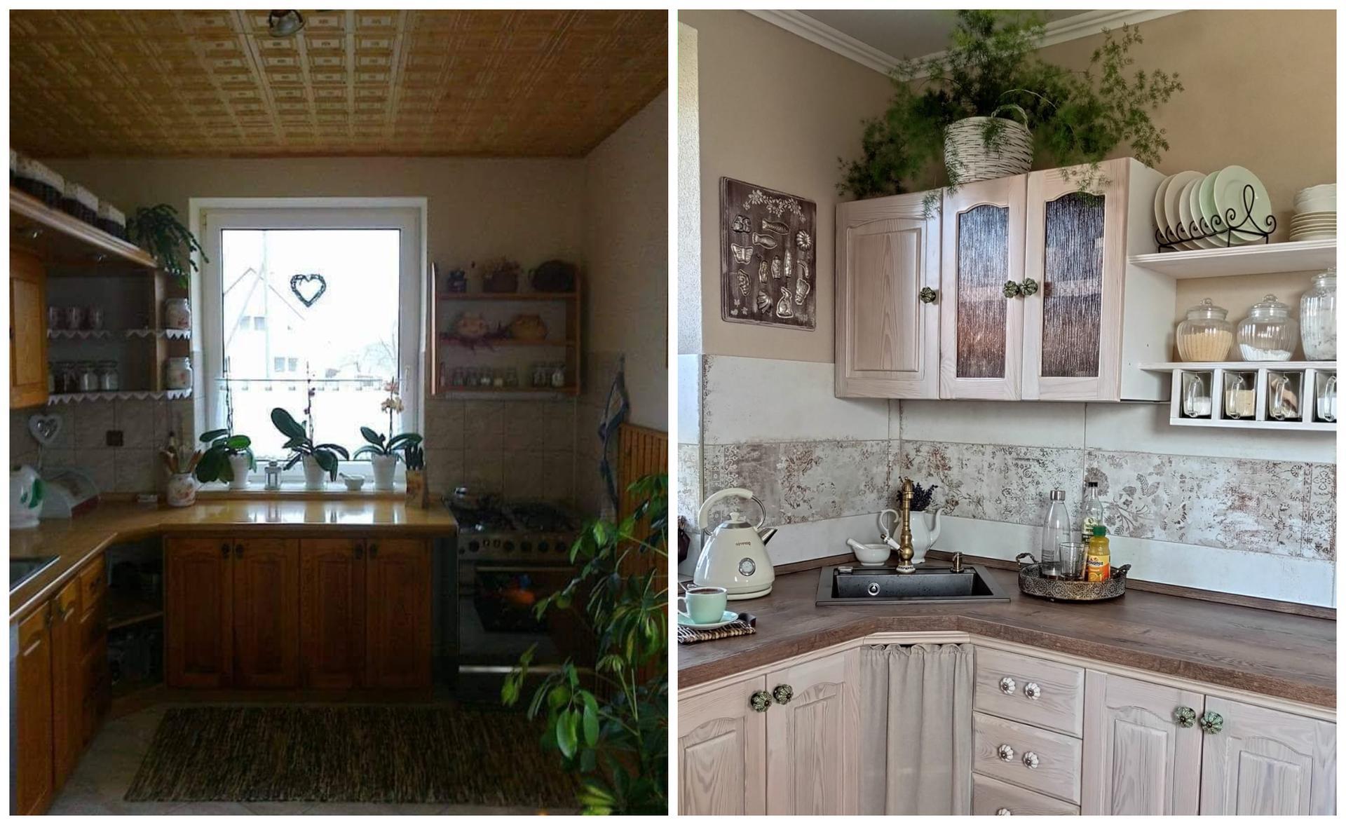 Před a po: Krásná kuchyně v provensálském stylu