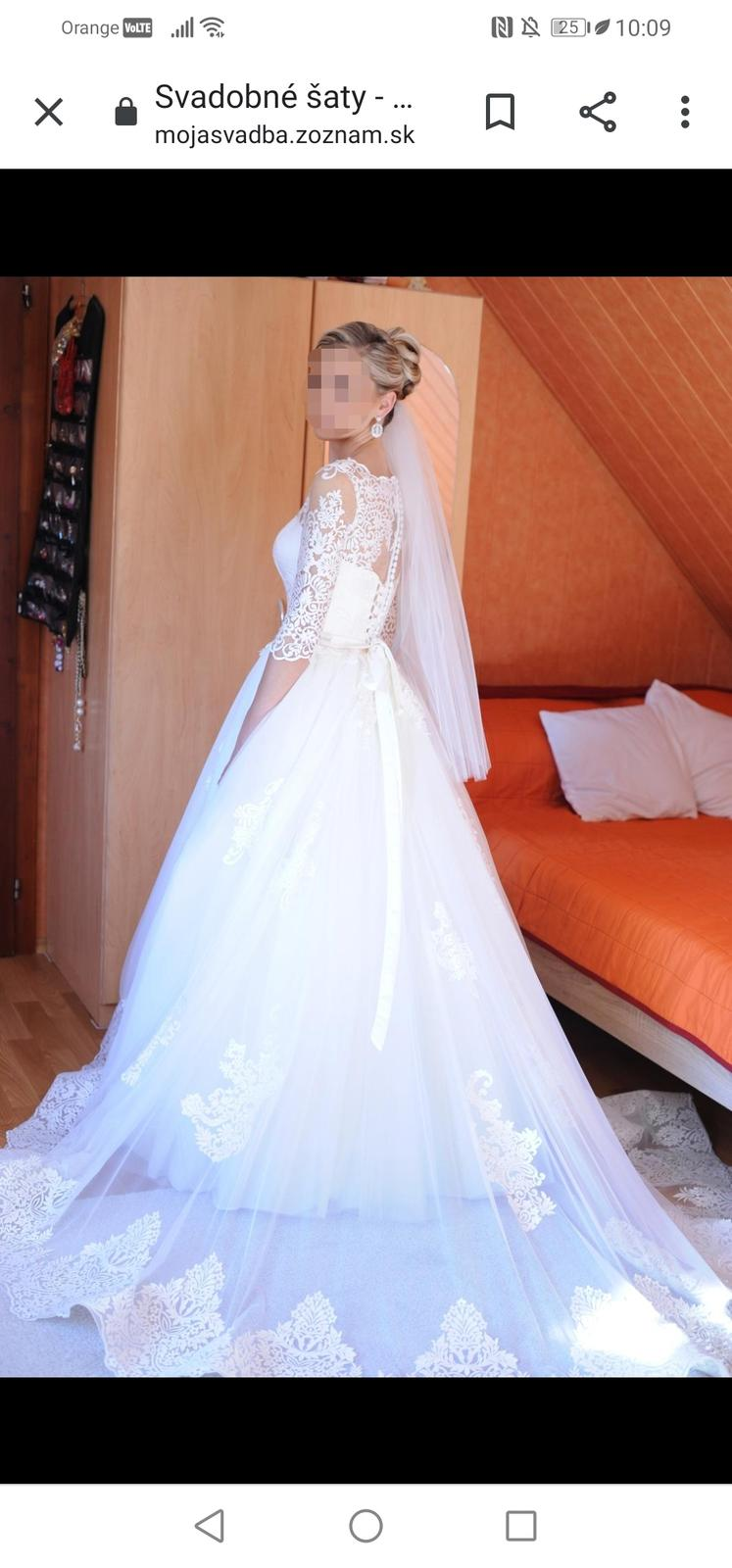 Svadobné šaty irian sam - Obrázok č. 2
