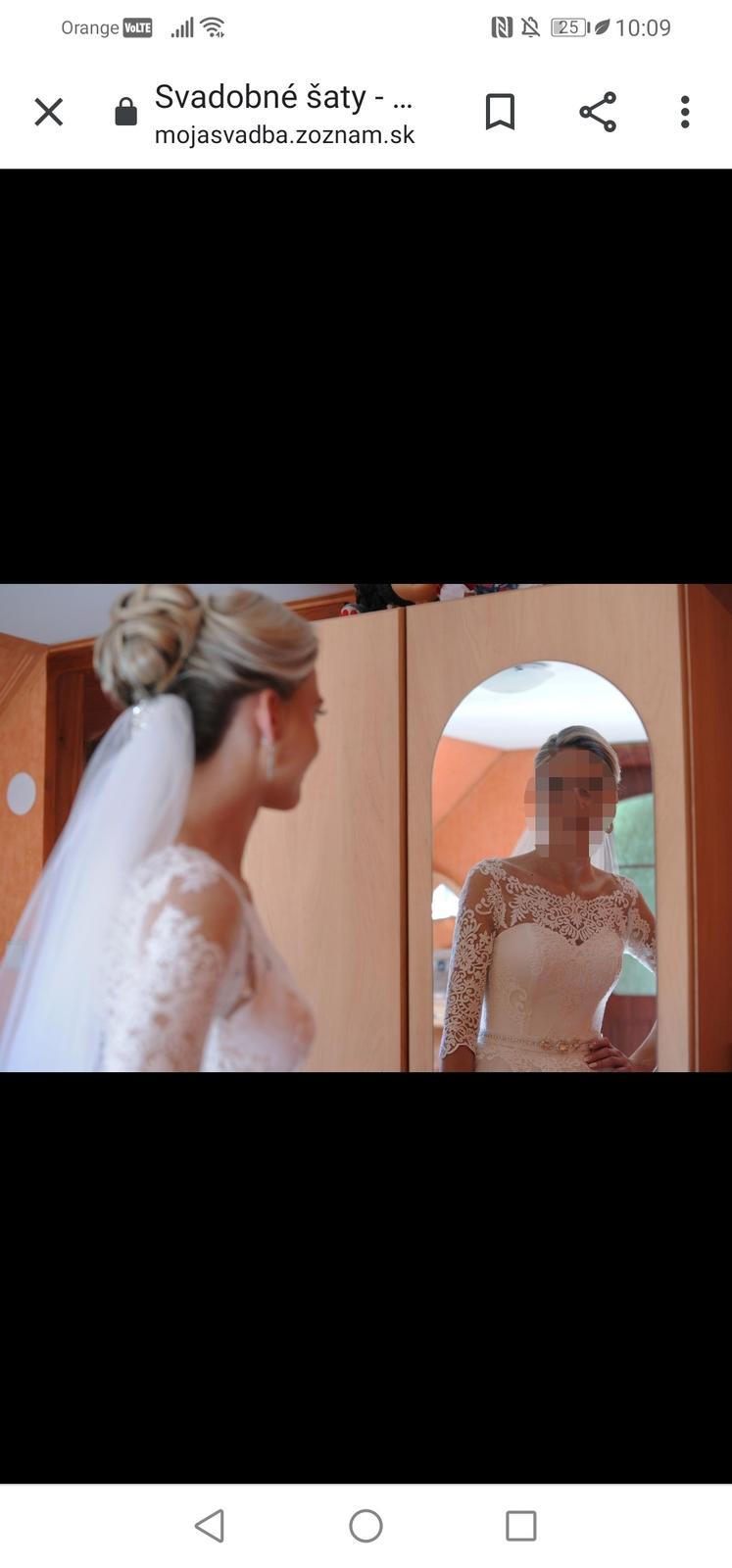 Svadobné šaty irian sam - Obrázok č. 3