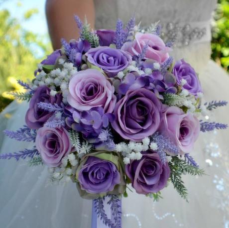 Svatební kytice Lila sweet - Obrázek č. 1