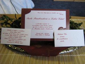 Oznámení, pozvánky ke stolu ...