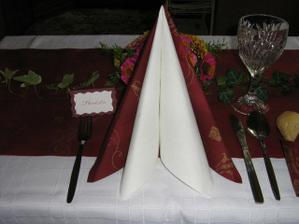 Zkouška svatební tabule...budou jiné kytky