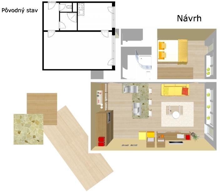 Jednoizbovy byt - Obrázok č. 1