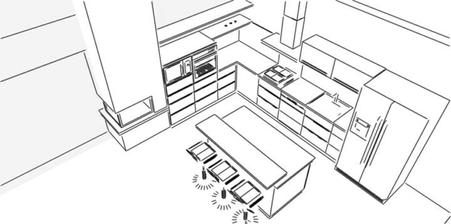 plánovaná moderná kuchyňa v rodinnom dome, ktorý je ešte vo výstavbe