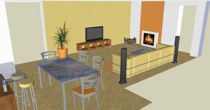 Obývačka v novostavbe 1