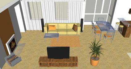 Obývačka v novostavbe 2