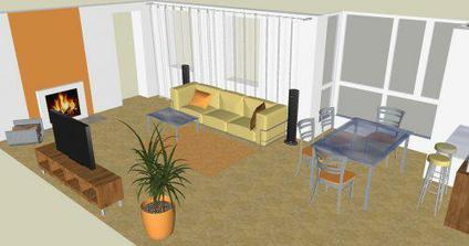 Obývačka v novostavbe 3