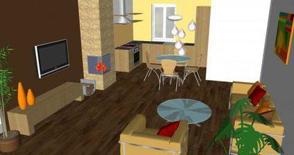 Obývačka v RD - alternatíva A