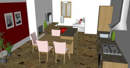 Obývačka v RD - alternatíva B