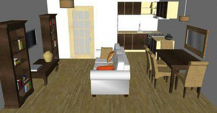 Obývačka s nádychom koloniálneho štýlu