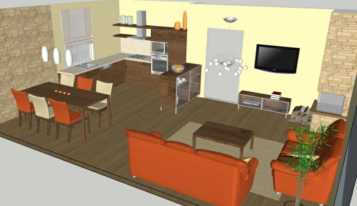 Návrh obývačky v novostavbe rodinného domu - Obrázok č. 6