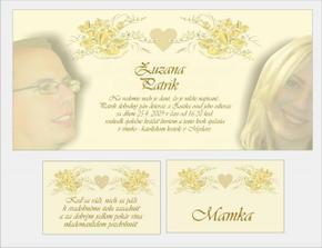 Naše svadobné oznámenie - vlastný návrh