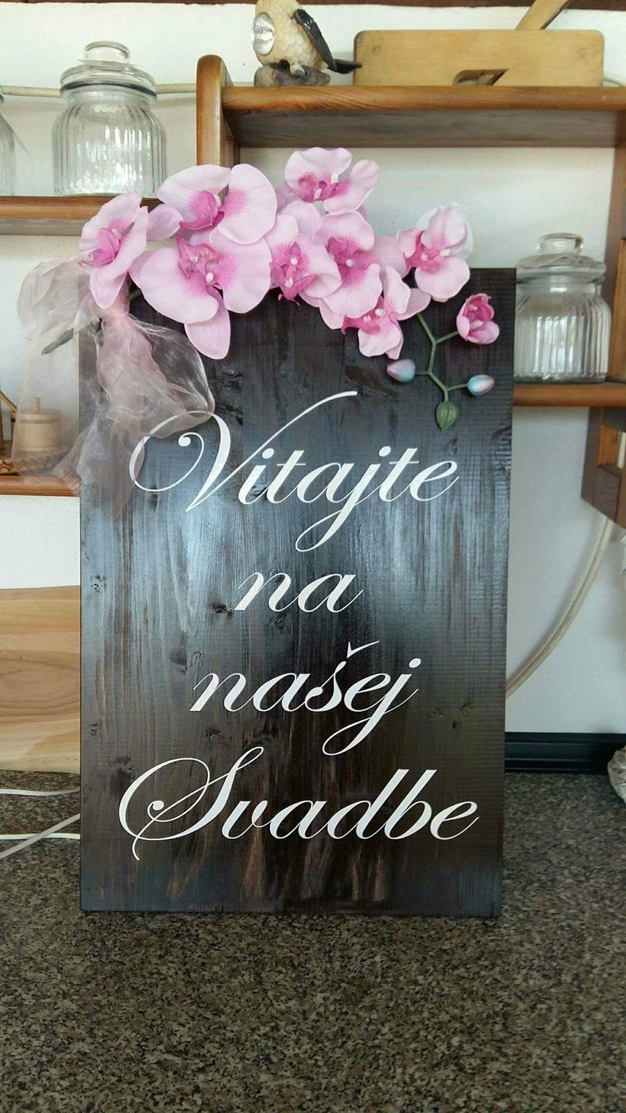 Welcome napis s kvetmi - Obrázok č. 1
