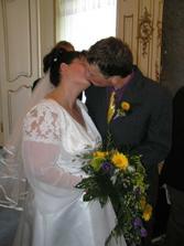 první manželský polibek,chutnal sladce