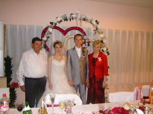 fotečka s rodičmi nevesty