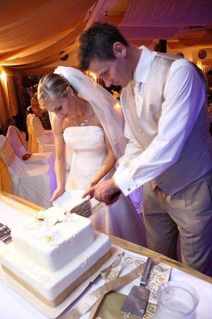 Maťa{{_AND_}}Žigi - Polnočné krájanie svadobnej torty.