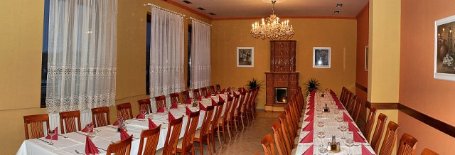 sál, kde bude hostina