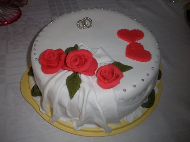 D&P - nasa zasnubna torta, robila ju mamina