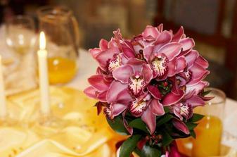 Tyto orchideje budu mít ve svatební kytici s růžemi