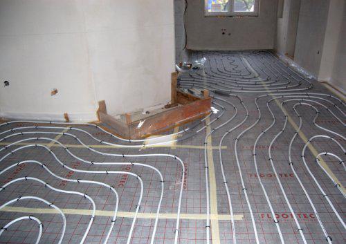 Náš domek - podlahové topení