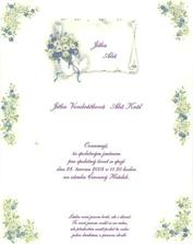 naše svatební oznámení