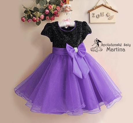 Společenské šaty pro družičku 2-8 let - Obrázek č. 1