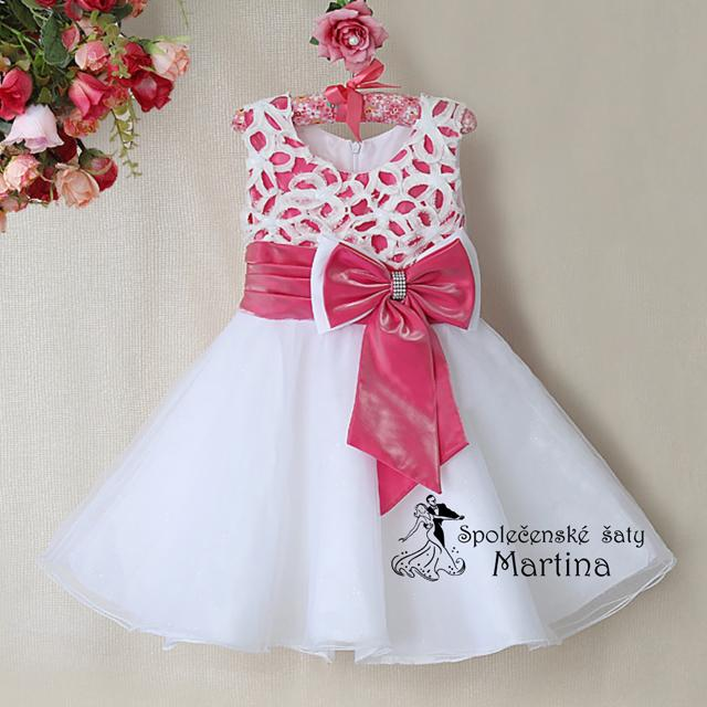 Společenské šaty pro družičku 2-7 let - Obrázek č. 1