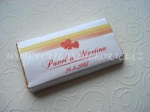 svatební čokoládky pro hosty