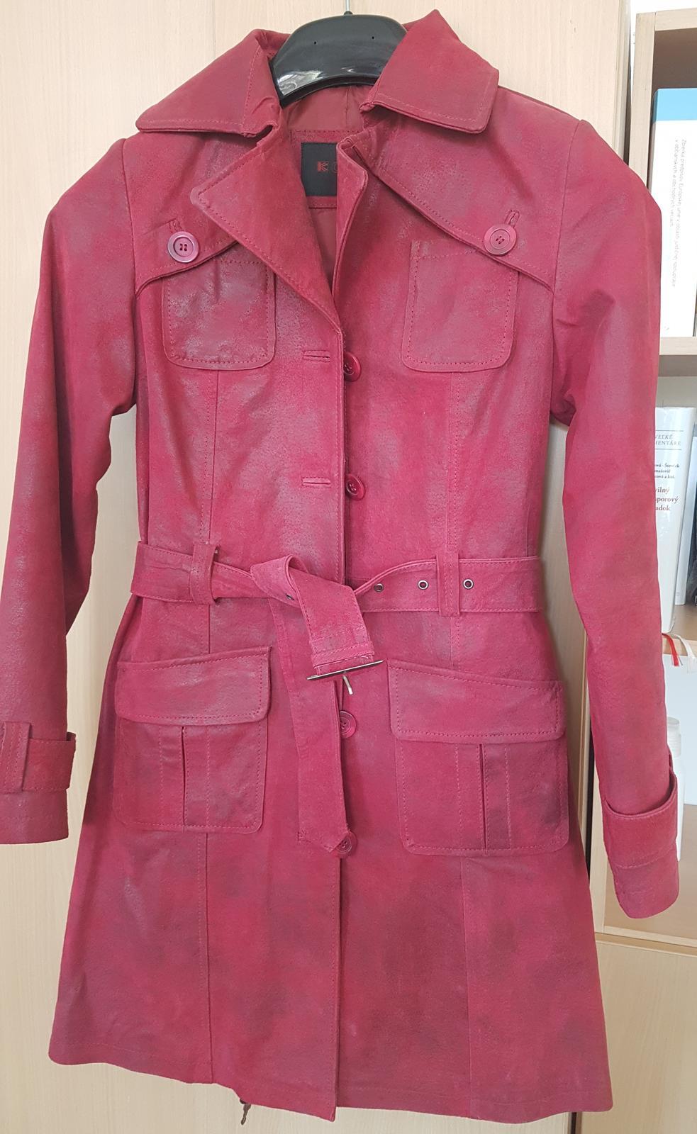 kožený kabát, nový - Obrázok č. 3