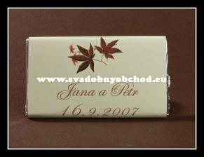 ...nieco pre hosti, aby nezabudli... svadobna cokolada...
