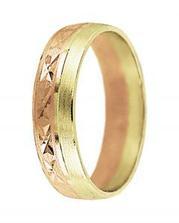 snubní prstýnek, kombinace červené a bílé zlato