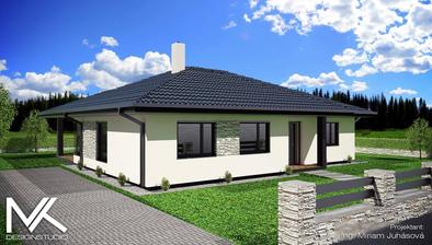 Máme vizualizáciu ako bude náš domček vyzerať:)