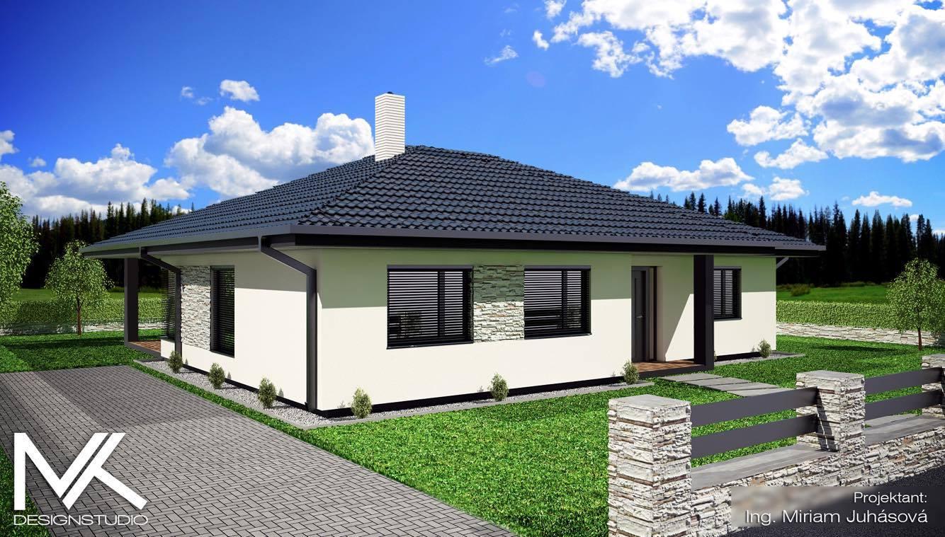 Nas pozemok a projekt:) - Máme vizualizáciu ako bude náš domček vyzerať:)