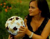 Látková svadobná kytica veľká,
