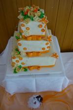 Náš hlavní svatební dort