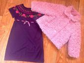 šaty a sváteční kabátek Next, 104