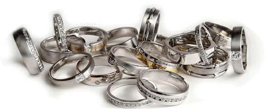 Výběr prstenů je obrovský...