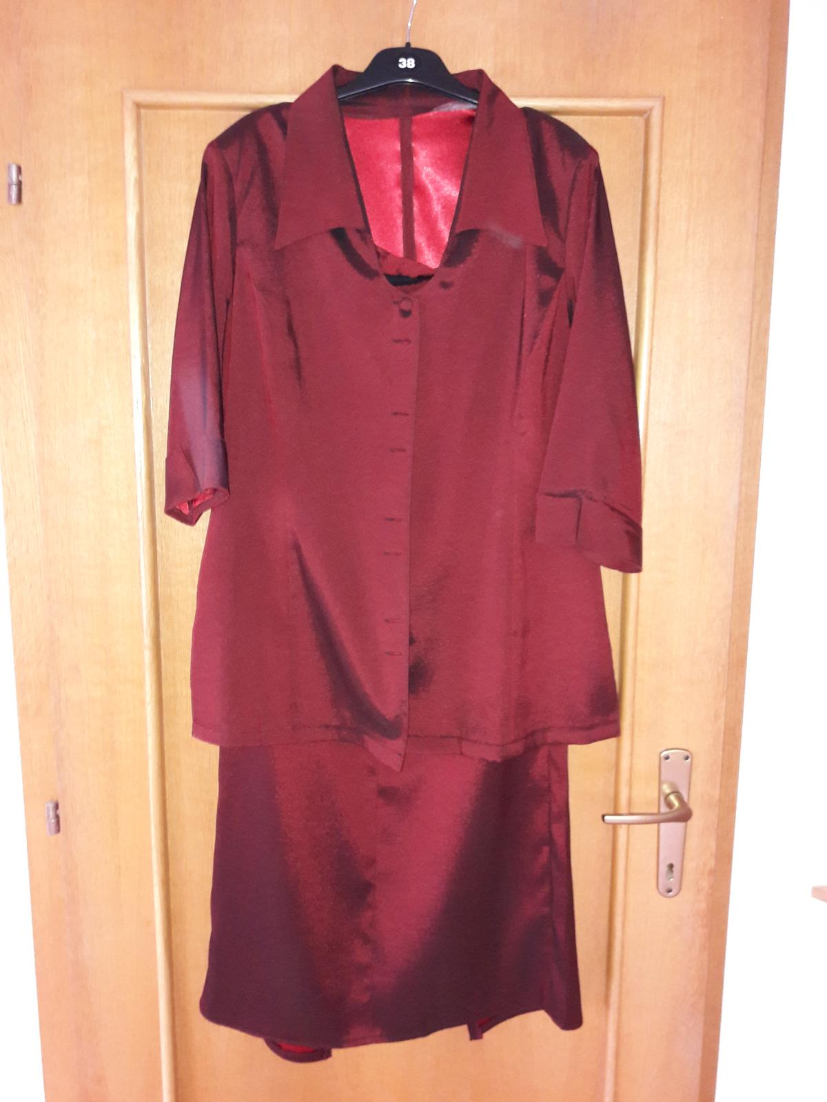 sukňový kostým - šitý- nepoškodený - Obrázok č. 1