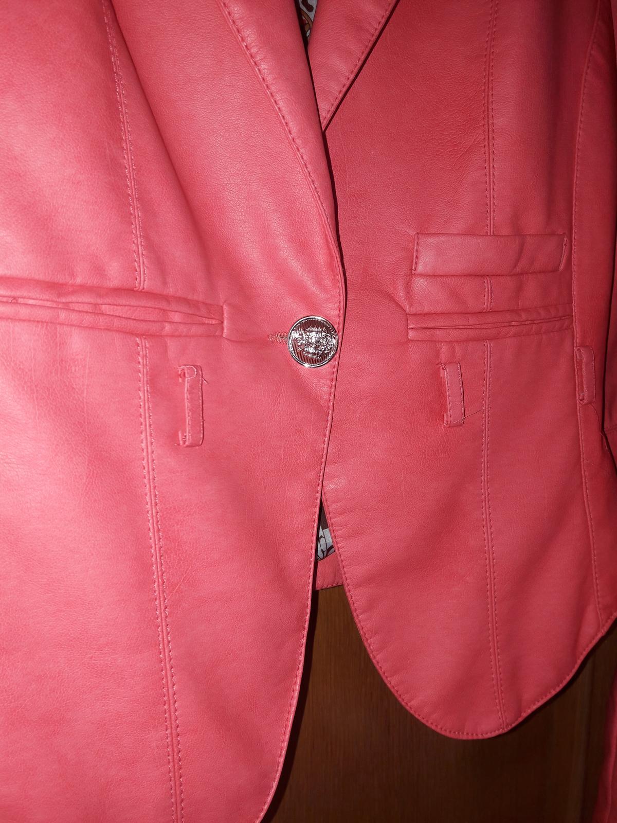 elegantná kožienka veľkosť M - Obrázok č. 2