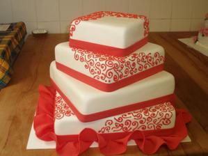 Představa dortu, jen bez toho dolního řaseného marcipánu