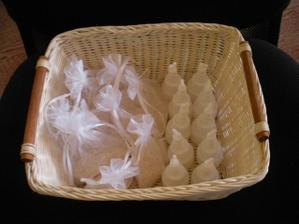 tady už jsou nachystané v košíku bublifuky a pytlíčky s rýží:)))