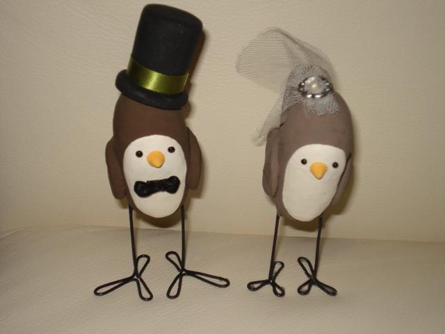 Monika & George - vtaciky vyrobene mojim nadanym bratom a jeho priatelkou :)