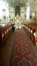 Takto som si vyzdobila kostol :) Na poslednú chví+u urobené kornútky :)