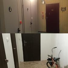 Pred a Po, chodba, nalavo bol vchod do kuchyne, ktorý sme zamurovali a do kuchyne sa ide cez obývačku :)