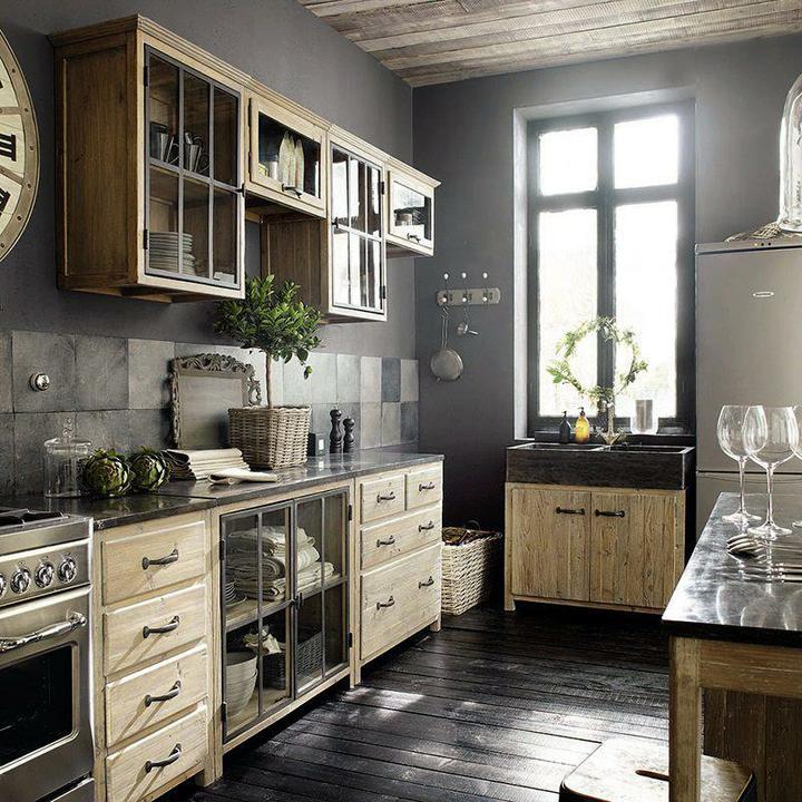 Drevo a biela v kuchyni - Obrázok č. 39