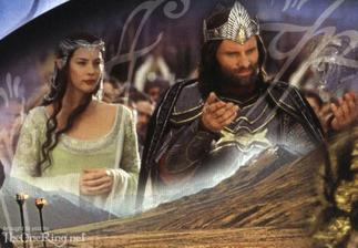 Arwen a Aragorn (Michala som na tu korunu nenahovorila :-D)