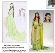 originál Arwenine šaty z korunovácie