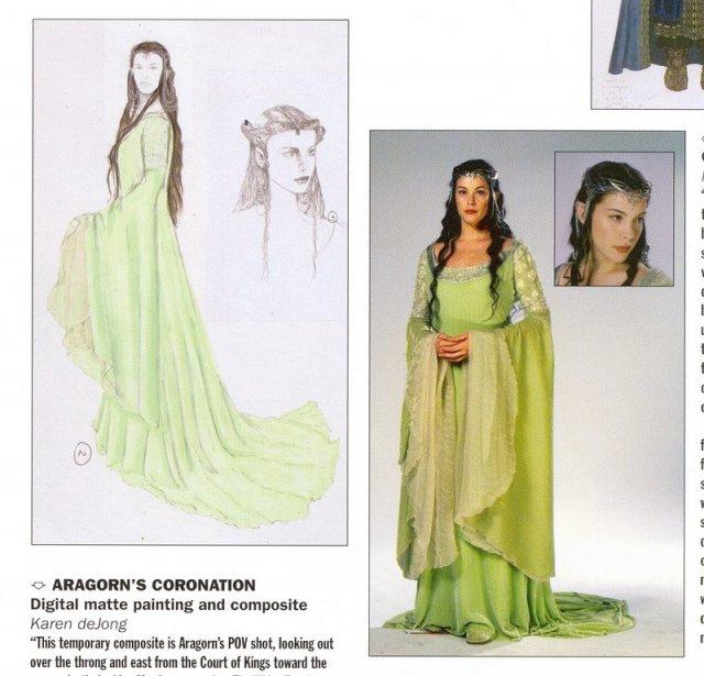 Michal a Barbora : Príprava na našu elfskú svadbu - originál Arwenine šaty z korunovácie