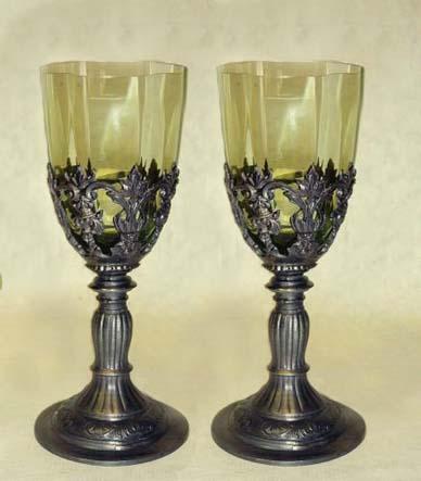 Michal a Barbora : Príprava na našu elfskú svadbu - nádherné čaše, pôvodne sme nechceli poháre, ale keď som zbadala tieto, neodolám
