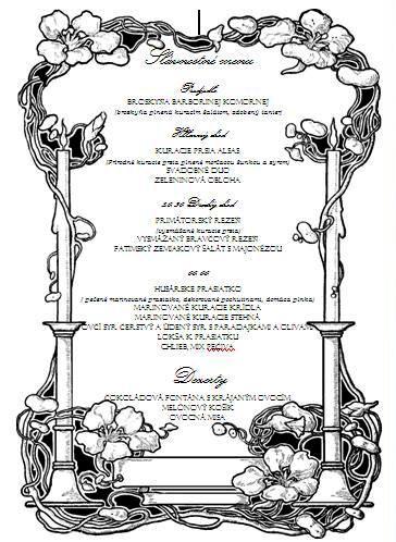 Michal a Barbora : Príprava na našu elfskú svadbu - Naše menu